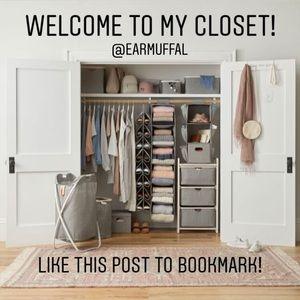 ✨Like this post to bookmark my closet!✨